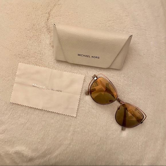 Rose Gold Micheal Kors Oversized Sunglasses